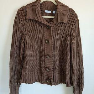 Womens Chunky Chocolate Brown Sweater On Poshmark